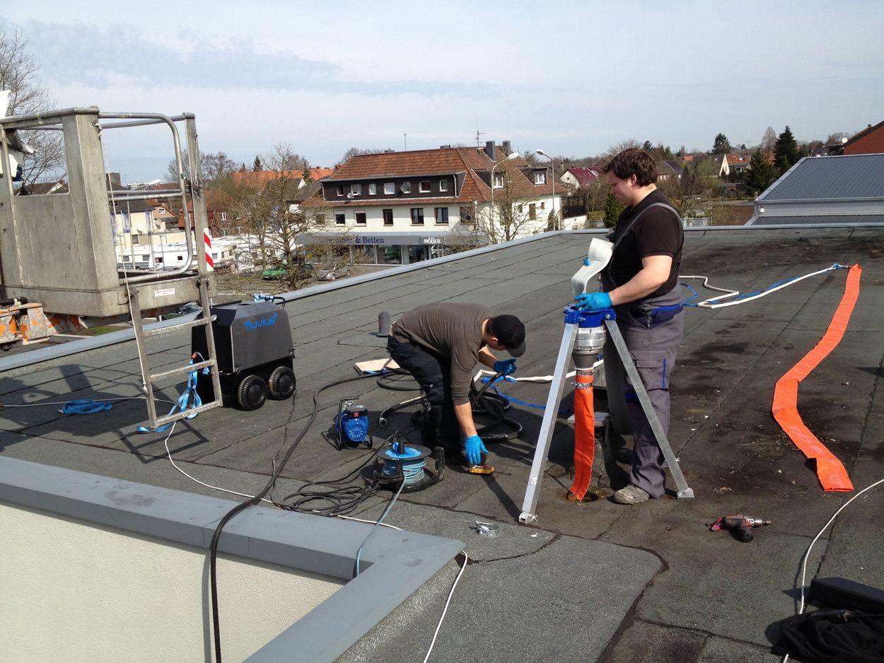 Rohraustausch vom Dach aus
